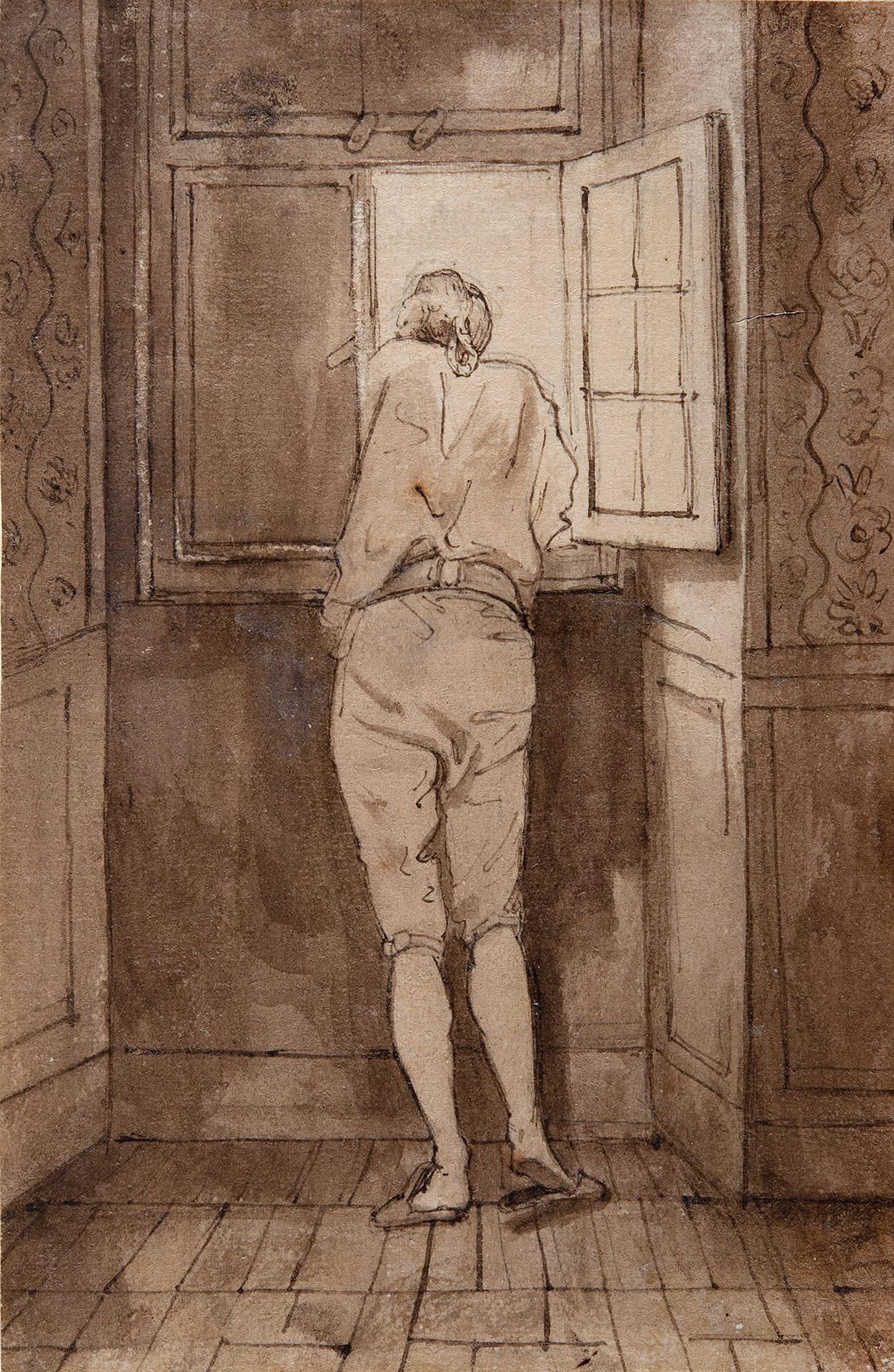 Artista ignoto, da J. H. W. Tischbein, Goethe alla finestra. 1786/88