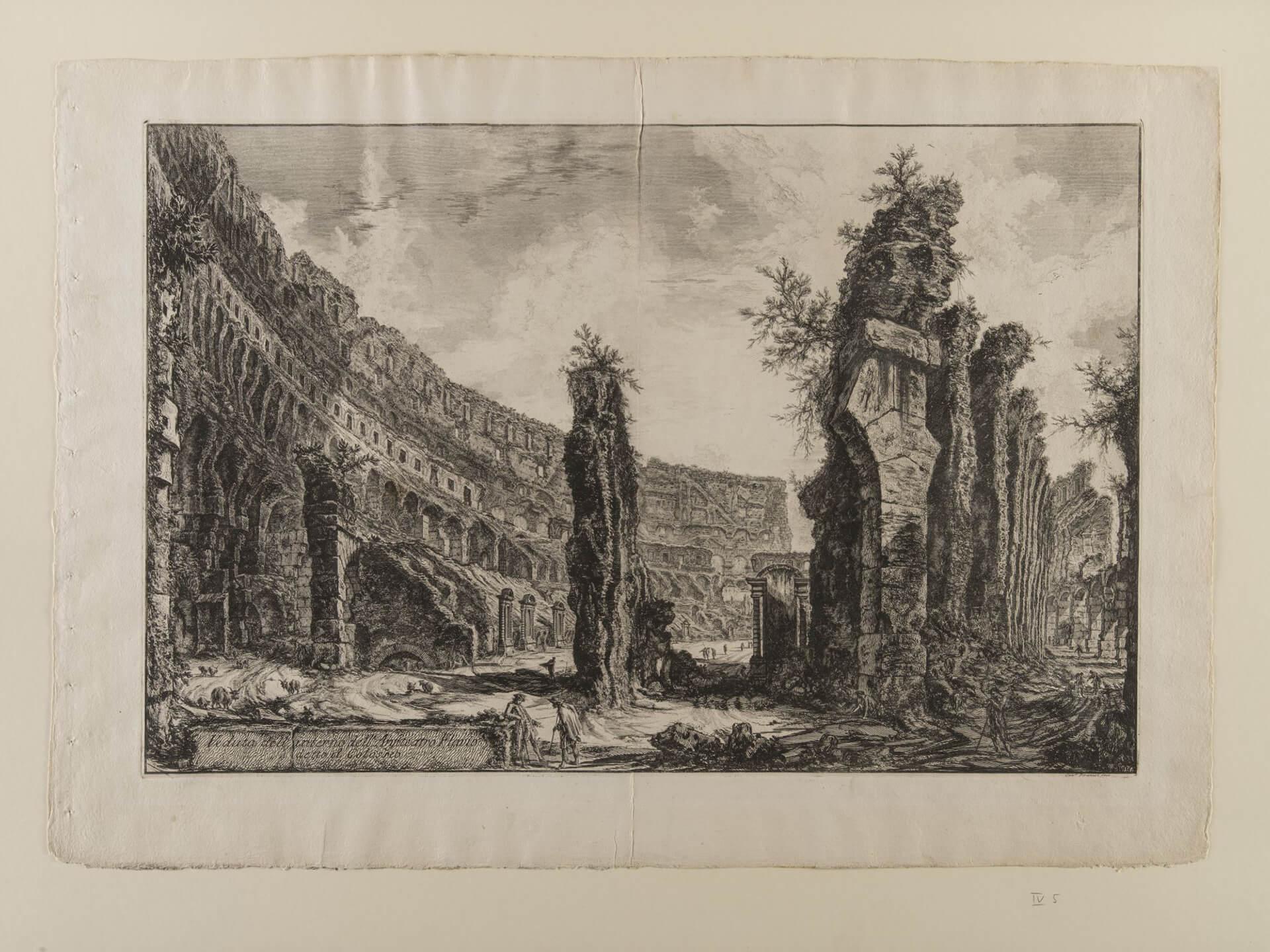G.B. Piranesi, Innenansicht des Kolosseums