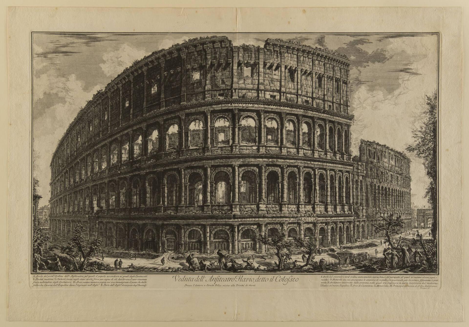 G.B. Piranesi, Außenansicht des Kolosseums