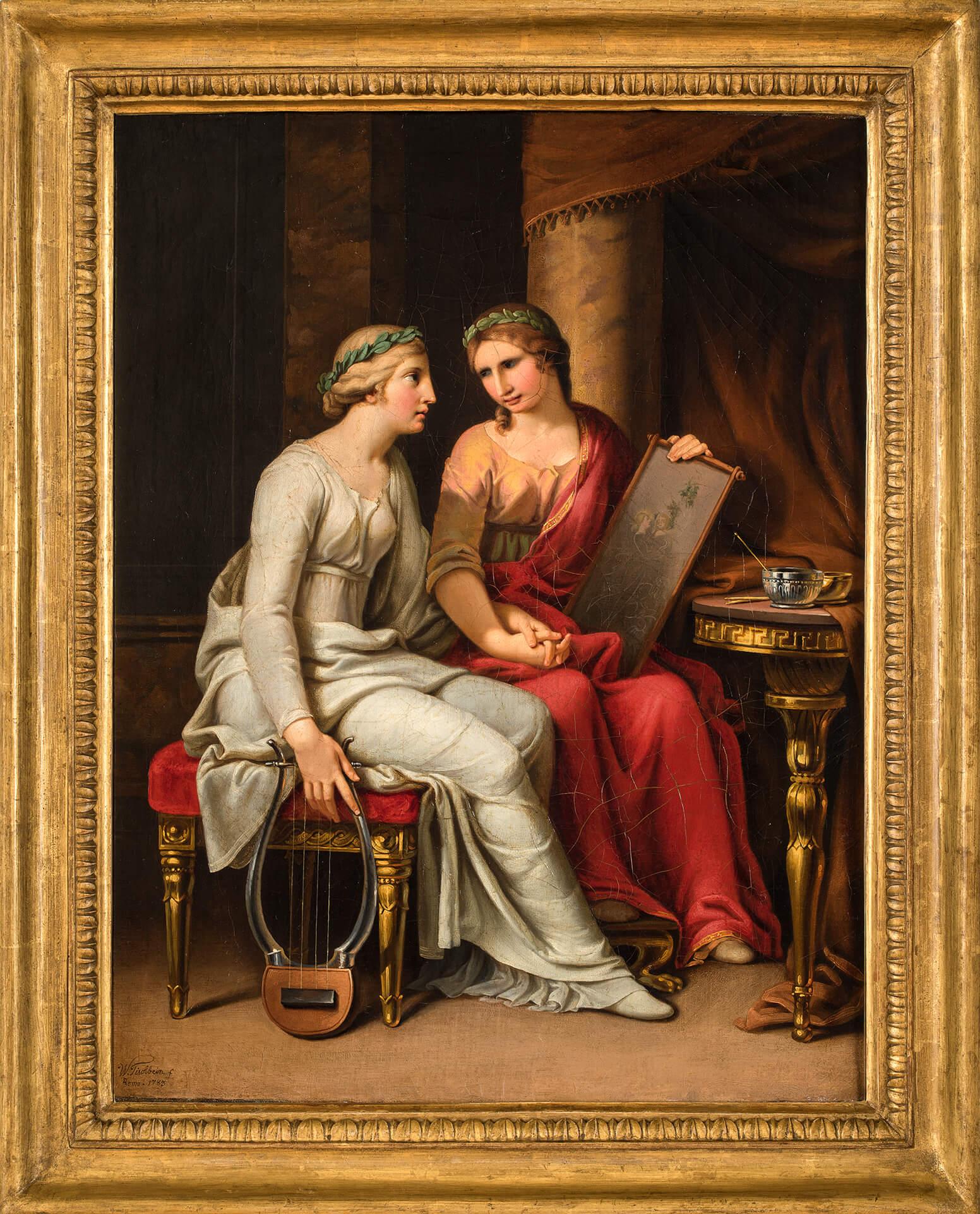 J. H. W. Tischbein, Allegoria della Poesia e della Pittura. 1783