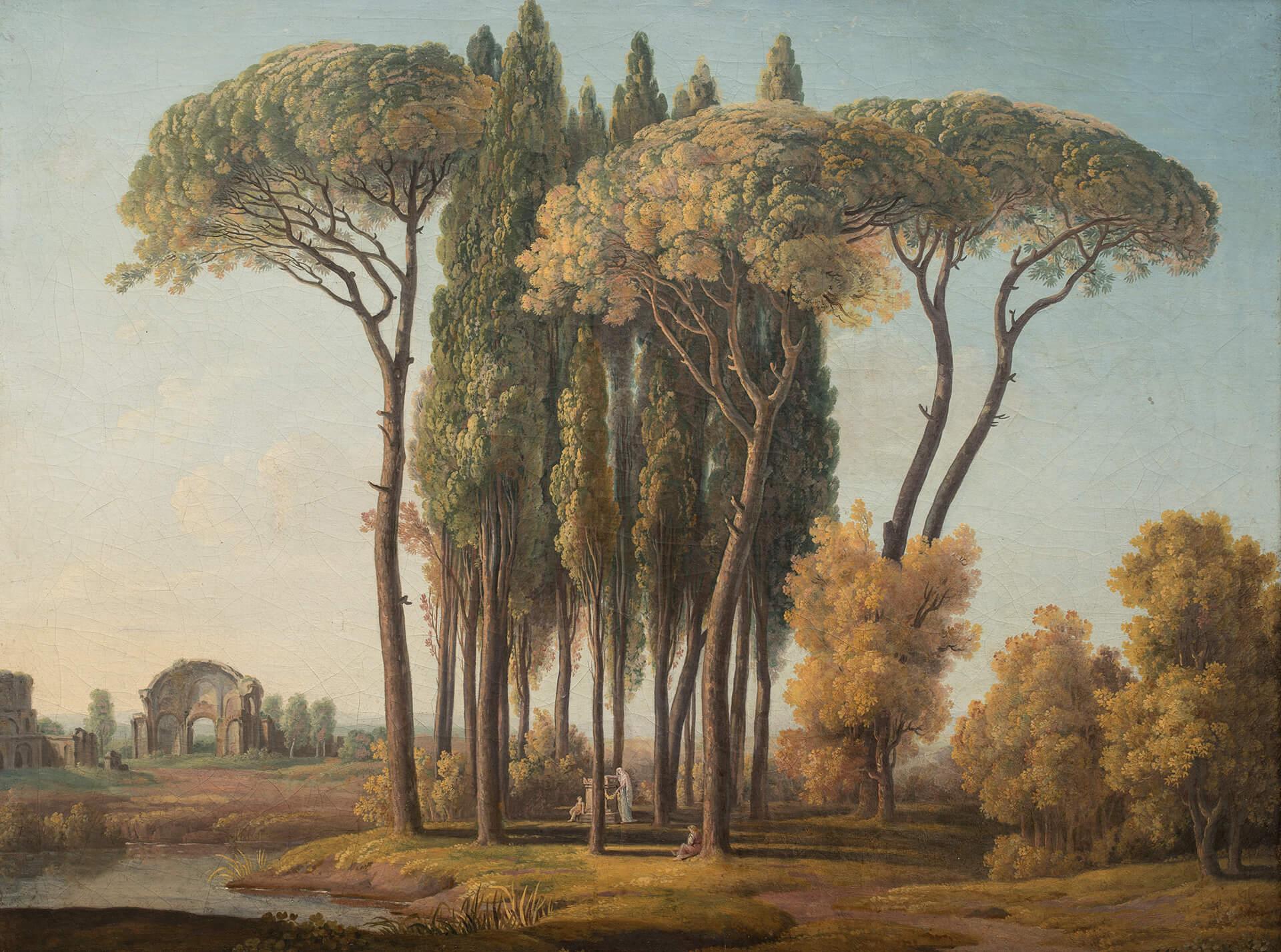 Johann August Nahl il Giovane, Veduta della Villa Montalto Negroni dal Monte di Giustizia a Roma. Ca. 1790