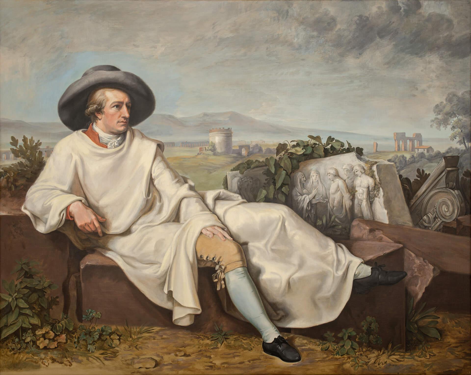 G. Takev da J. H. W. Tischbein, Goethe nella Campagna romana. 1996